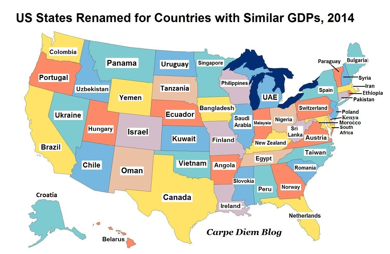 A Way To Gauge US GDP The Rugged Individualist - Us gdp map by state