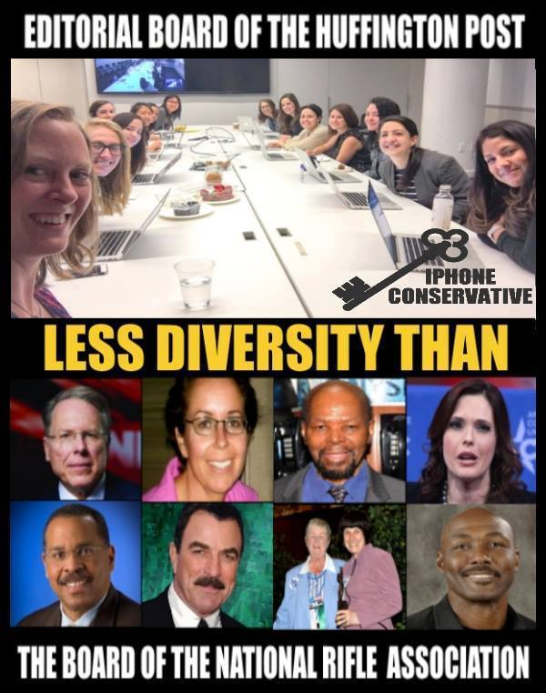 Stupid-liberals-HuffPo-less-diversity-than-NRA